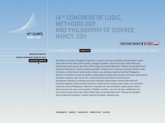 CLMPS (14th Congress of Logic, Methodology and Philosophy of Science, Nancy 2011)